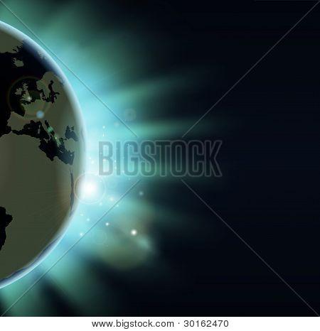 Earth Eclipse Concept
