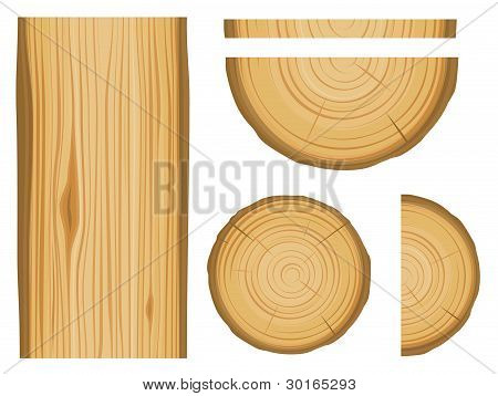 Wood Texture And Elements