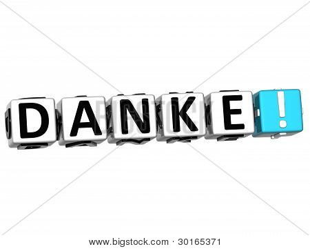 The Word Danke - Thank You In Many Different Languages.