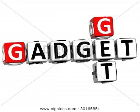 3D Get Gadget Text Crossword