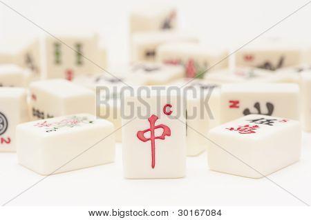 Studio Shot Of Mahjong Pieces