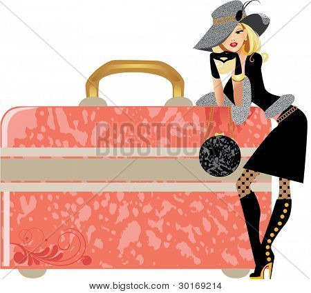 glamour lady and beauty case