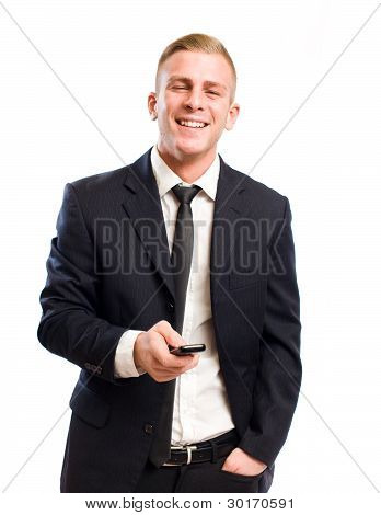 Confident Happy Businessman.