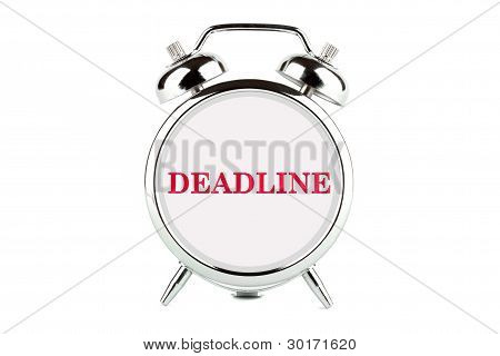 Deadline Word On The Alarm Clock