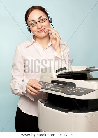 Businesswoman With Copier