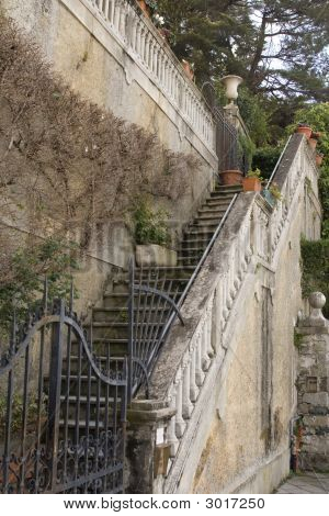 Old Outdoors Staircase Of Italian Villa