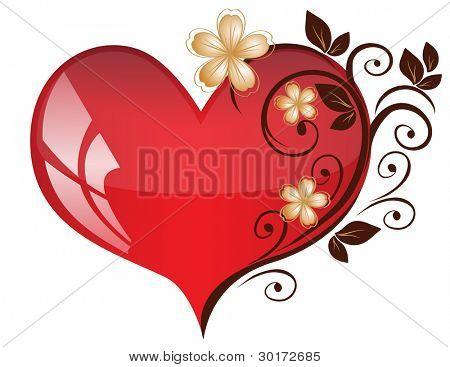Openwork heart from a flower pattern