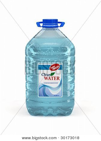 Bottle of water on white background. 3d