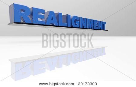 Realignment 3D Text - XXXL