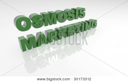Osmosis Marketing 3D text - XXXL