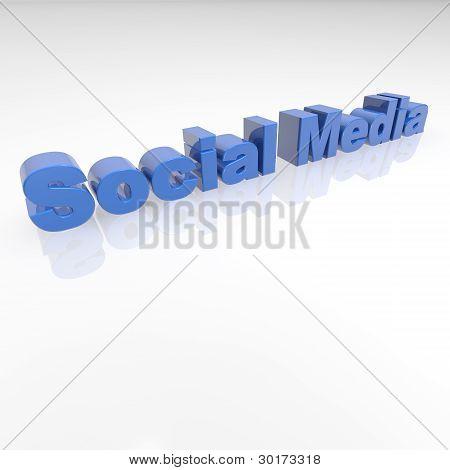 Socail Media 3D text - XXXL