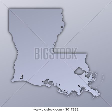 Louisiana (Usa) Map