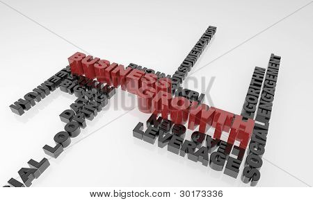 Business Growth 3D text - XXXL