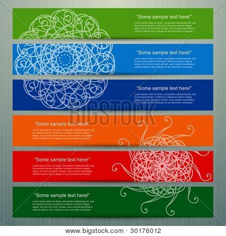 Colorful banner set, vector