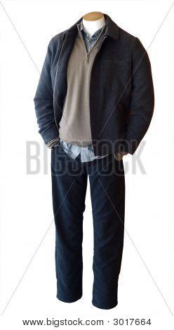 Maniquí de hombre tienda vestidos con Ropa Casual