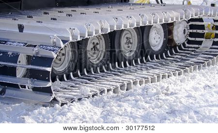 Snow-clearing Equipment On A Snowy Background