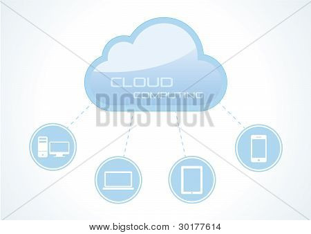 Cloud Computing Concept. Vectorillustratie