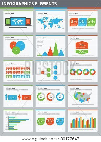 Detail Infographic Vector Illustration Presentation. World Map And Information Graphics