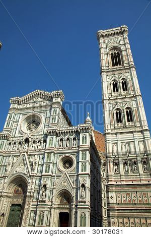 The Duomo in Florence Italy late in the day.
