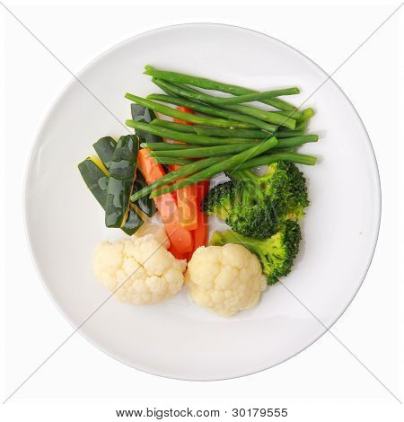 Dish With Steamed Vegetables