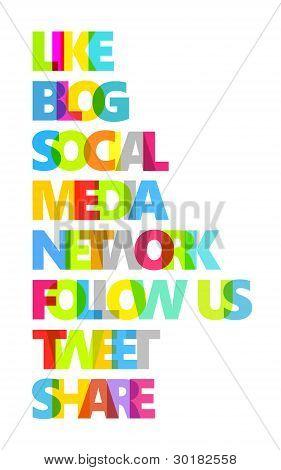Social Media Color Words