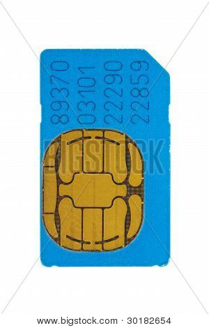 Blue Gsm Phone Sim Card
