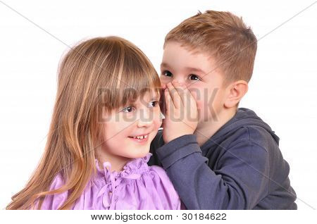 Girl and a boy gossiping