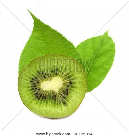 Kiwi fruit with with heart inside