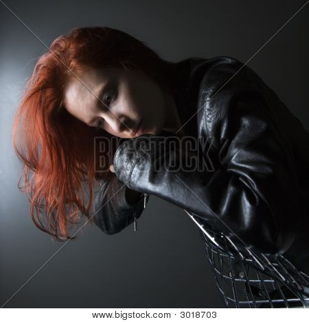 Redhead Young Woman.