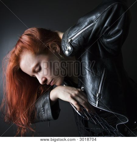Woman With Red Hair.