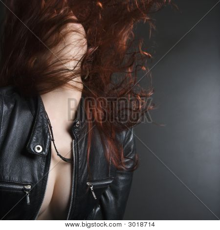 Woman Flipping Hair.