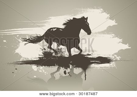 Artistic horse illustration