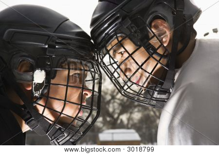 Ice Hockey Confrontation.