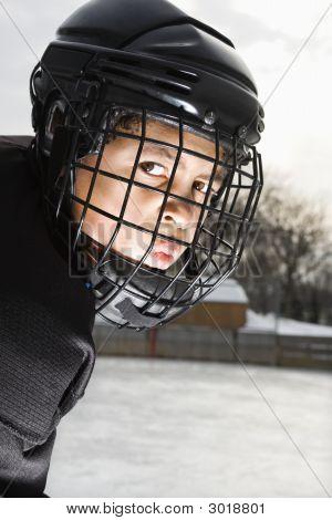 Ice Hockey Player Boy.