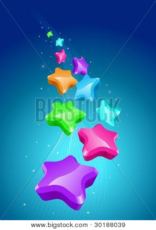 colorful stars background.