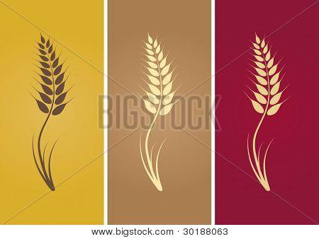 silueta de trigo.