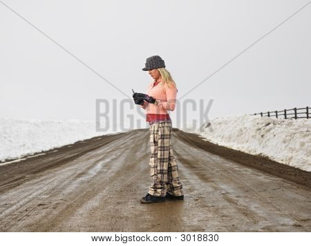 Woman With Cell Phone.