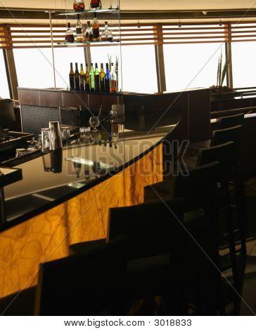 Bar In Restaurant.