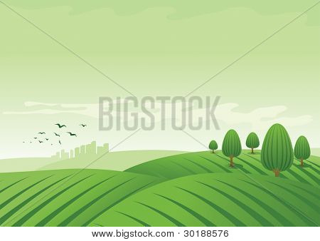 Vektor-Illustration Landschaft.