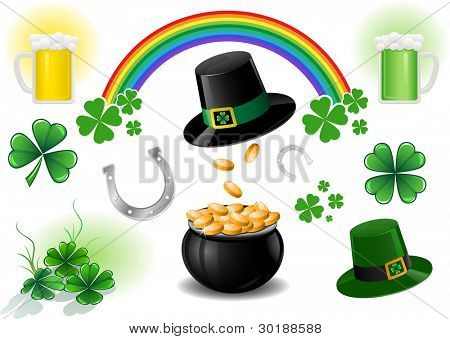 Vector St. Patrick's Day design elements.