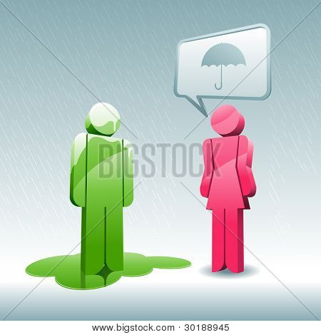 suggestion. 3d vector concept illustration.