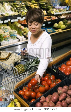 Woman Grocery Shopping.