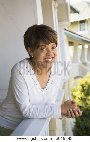 Lächelnde Frau.