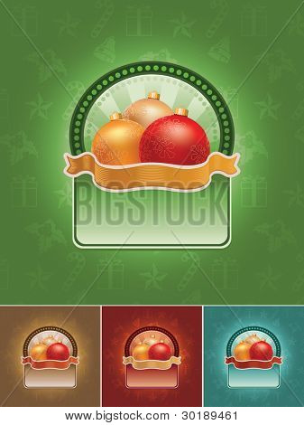 Christmas banner set. All elements are layered separately in vector file. Easy editable CMYK color mode. Mesh used.