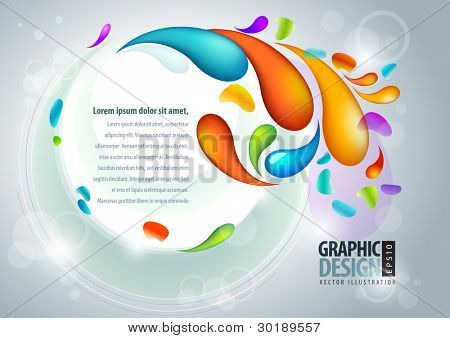 Abstract vector presentation template. EPS10