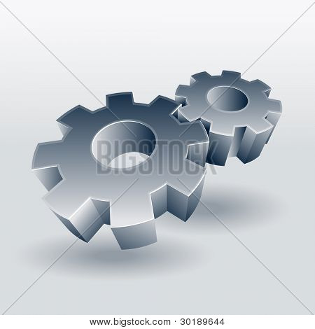 Gear wheel vector symbol.