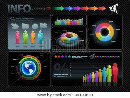 Vector infographics set.