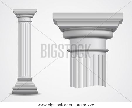 Vector illustration of ancient column.