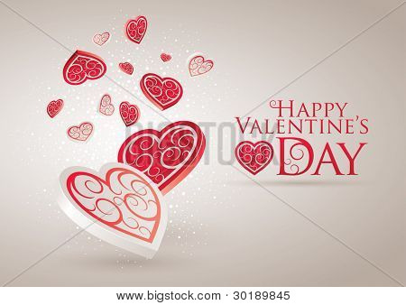 Valentine's Day Card. Editable vector illustration. CMYK color mode. Print ready. All elements are layered separately in vector file.