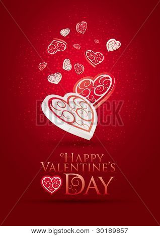 Valentine's Day Poster. Editable vector illustration. CMYK color mode. Print ready. All elements are layered separately in vector file.